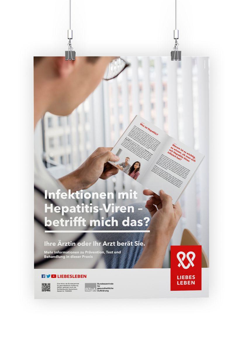 Bild zu Hepatitis-Wartezimmerplakat für die allgemeinmedizinische Praxis