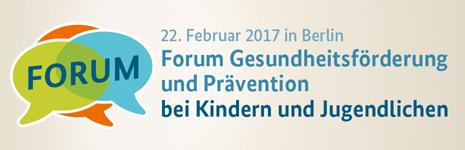 """Themenbild Forum """"Gesundheitsförderung und Prävention bei Kindern und Jugendlichen"""""""