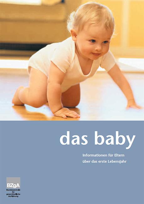 Titelseite der Broschüre: Das Baby - Ein Leitfaden für Eltern