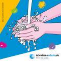 """Bild zu Aufkleber """"Händewaschen"""", klein für Kindertagesstätten"""