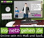 Screenshot und Logo der Internetseite www.ins-netz-gehen.de