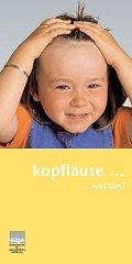 Titelseite der Broschüre Kopfläuse ... was tun? - deutsch