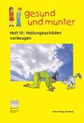 Titelseite der Lehrerhandreichung gesund und munter - Heft 10: Haltungsschäden vorbeugen
