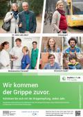 """Bild zu Plakat """"Wir kommen der Grippe zuvor"""" - Kampagnenmotiv - A3"""