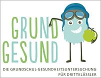 """Logo des Modellprojekts """"Gesundheitsuntersuchung in Grundschulen"""""""