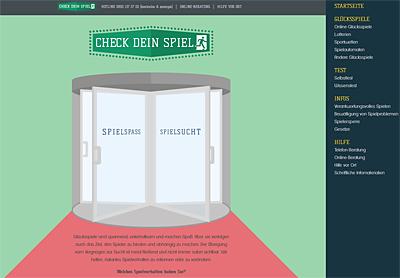 Screenshot der Internetseite www.check-dein-spiel.de