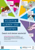"""Bild zu Plakat """"Richtig niesen und husten"""" für Grundschulen"""
