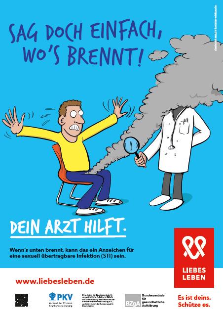 """Bild zu LIEBESLEBEN 2017 - Plakat Motiv """"Sag doch einfach, wo's brennt"""""""