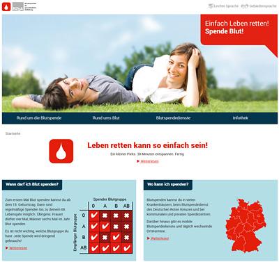 Screenshot der Internetseite www.einfachlebenretten.de