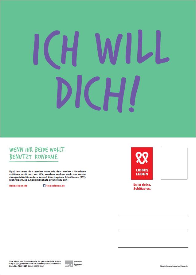 """Bild zu LIEBESLEBEN Postkarte Motiv """"Ich will Dich!"""""""