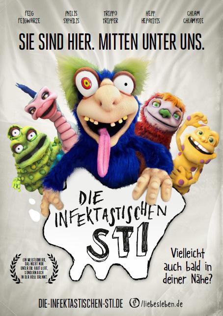 Bild zu LIEBESLEBEN »Die infektastischen STI« - Das Plakat zur Social-Media-Kampagne