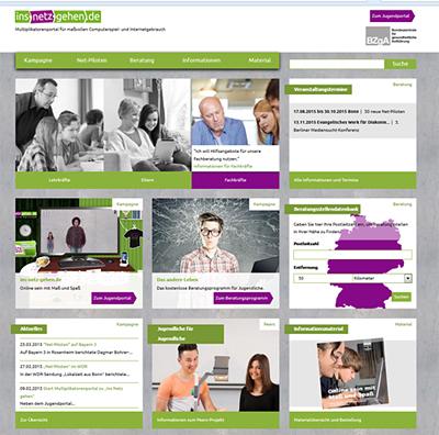 Screenshot der Internetseite www.multiplikatoren.ins-netz-gehen.de/