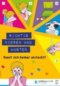 """Bild zu Plakat """"Richtig niesen und husten"""" für Kindertagesstätten"""