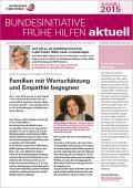 Bild zu Bundesinitiative Frühe Hilfen aktuell. Ausgabe 1/2015