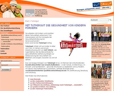 Screenshot der Seite www.tut-mir-gut.net